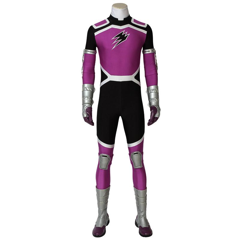 Juken Sentai Gekiranger Cosplay Fukami GOU Costume GEKI Violet Jumpsuit Halloween Party Adult Men Outfit With Boots Custom Made