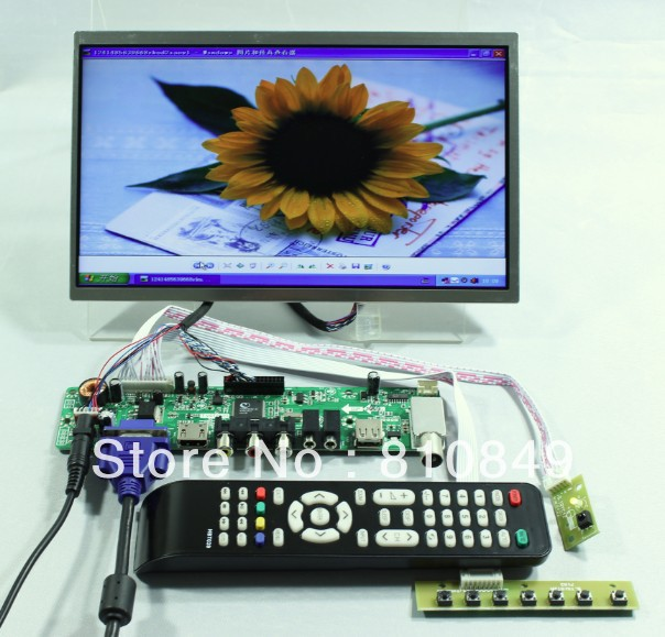 TV HDMI VGA AV USB AUDIO LCD Controller Board+10.1 LP101WH1 CLAA101WA01A 1366x768 LCD Screen tv hdmi vga av usb audio lcd controller board 10 1b101aw06 1024x600 lcd screen