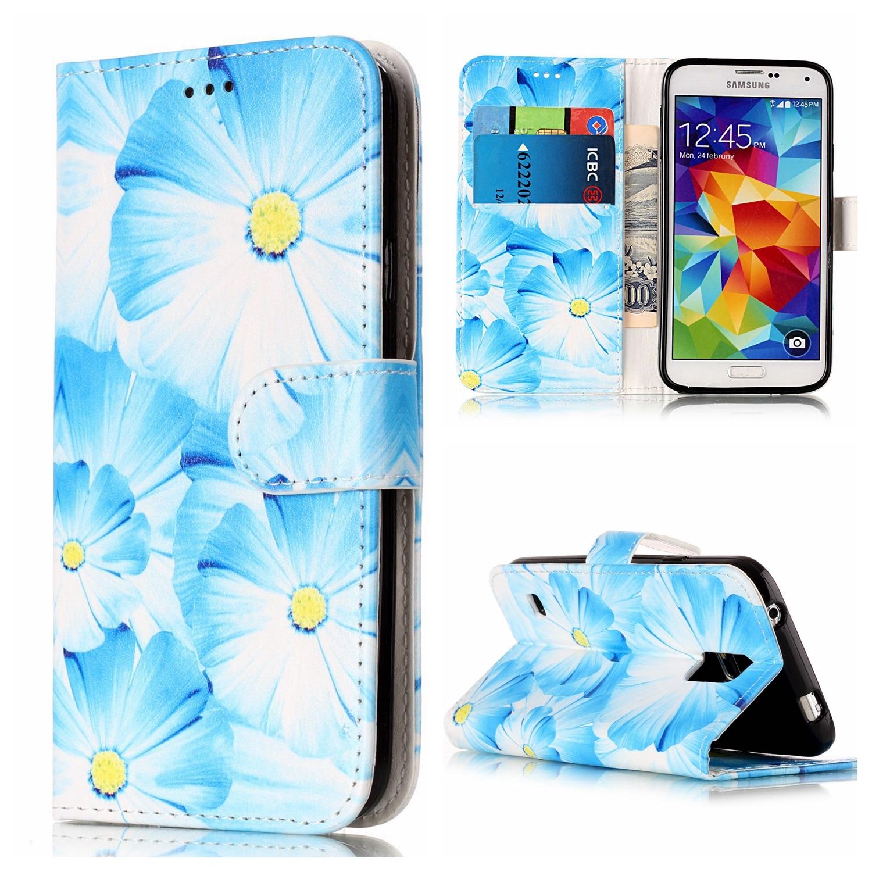 Luxury Case for Samsung Galaxy S5 PU+TPU Case for Samsung S5 SM-G900F/A/M/T/K/L/I/S/FD/FQ G9008W G9009D Marble pattern phone bag