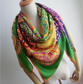 1 PC  130*130cm Big size Hot Sale Square Scarf Brand Silk Scarfs Free Shipping S2003