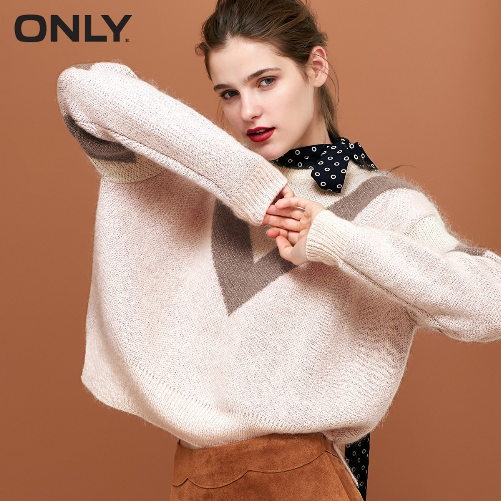 ONLY Women's Metal Wire Assorted Colors Knitted Pullover Sweater|118324556
