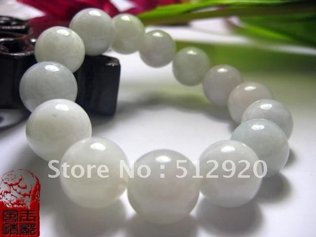 Class A Jade beads,White Jade bracelet
