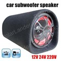 portable 5 inch 12V 24V 220V car audio active booster speakers subwoofers bass tunnel remote control for TF USB flash disk