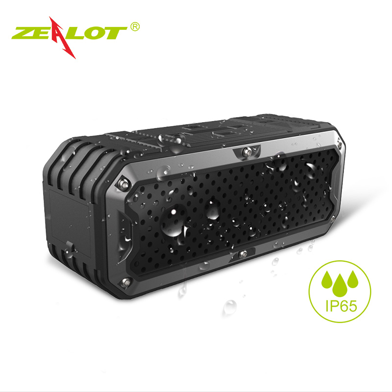 ZEALOT S6 Baru Bank Daya Tahan Air Portabel Nirkabel Bluetooth Speaker Built-in 4000mAh Baterai Dual Drivers Subwoofer Aux