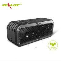 Nuevo Zealot S6 impermeable inalámbrico portátil Bluetooth Altavoces Baterías portátiles incorporado 5200 mAh batería dual drivers subwoofer AUX