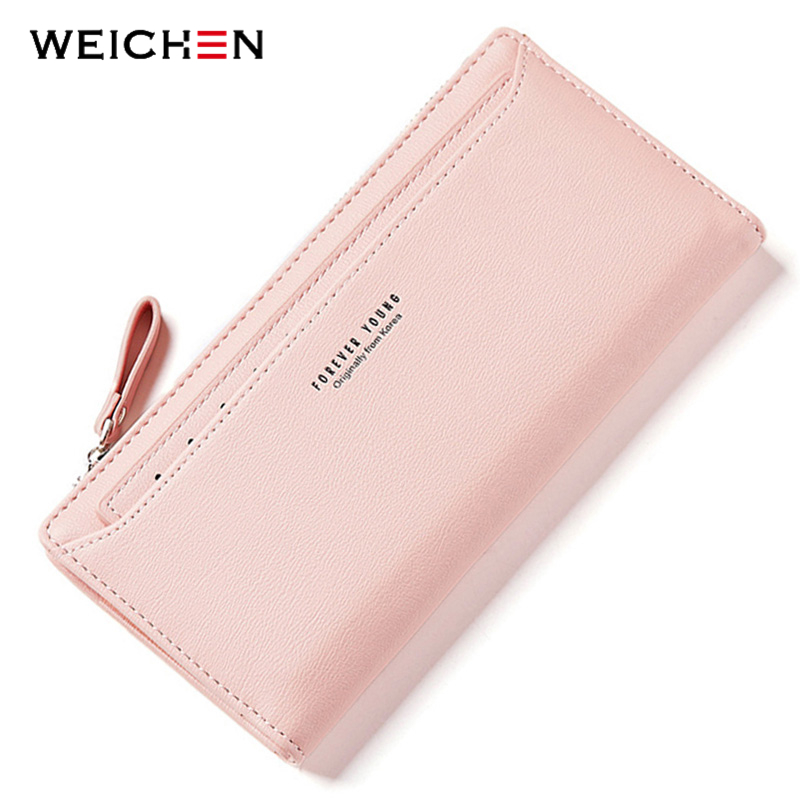 WEICHEN Many Departments Women Wallets With Individual Card Holder Ladies Long Fashion Purse Brand Female Wallet Clutch Carteras new arrival women wallets fashion women bow card cash receipt holder wallet purse clutch handbag carteras mujer