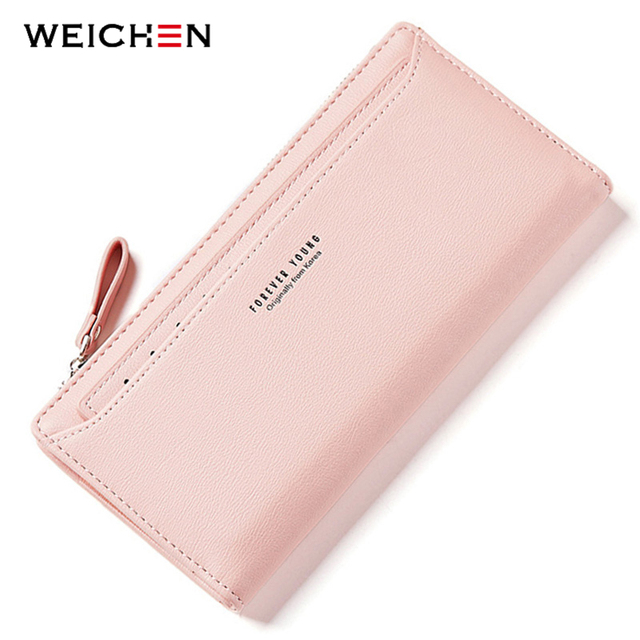WEICHEN Many Departments Women Wallets With Individual Card Holder Ladies Long Fashion Purse Brand Female Wallet Clutch Carteras