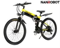 NANROBOT M1 26'' 350/500W Electric Bike with 48V 10.4AH Lithium Ion Battery for Adults Mountain Bicycle