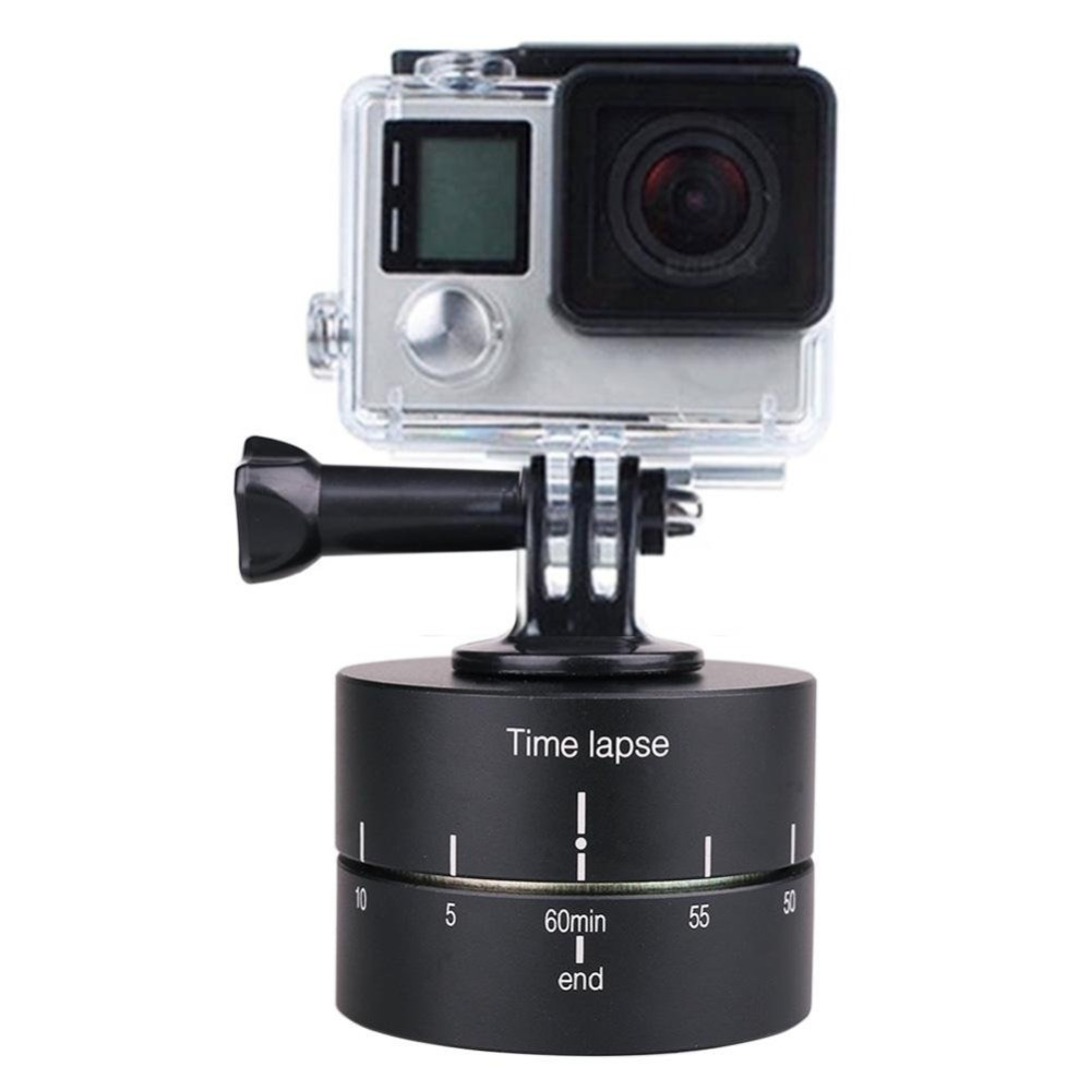 ZycBeautiful for GoPro 360 degree rotating pan tilt photography automatic rotation 60min ...