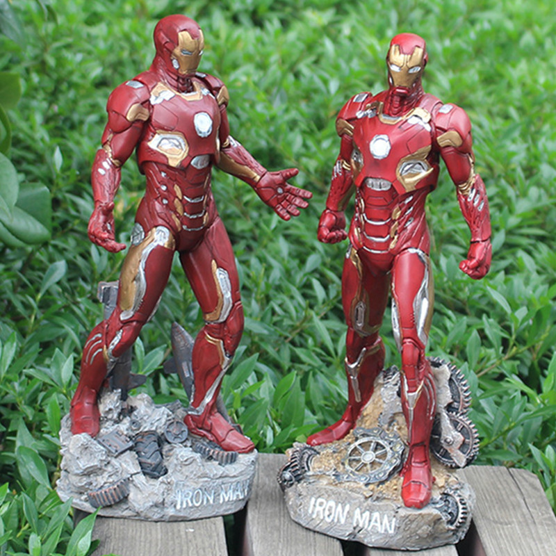 31cm Avengers Superhero Iron man Action Figure Toy Model Collection Creative Brinquedos Figurals Decoration Ornament Gift L447