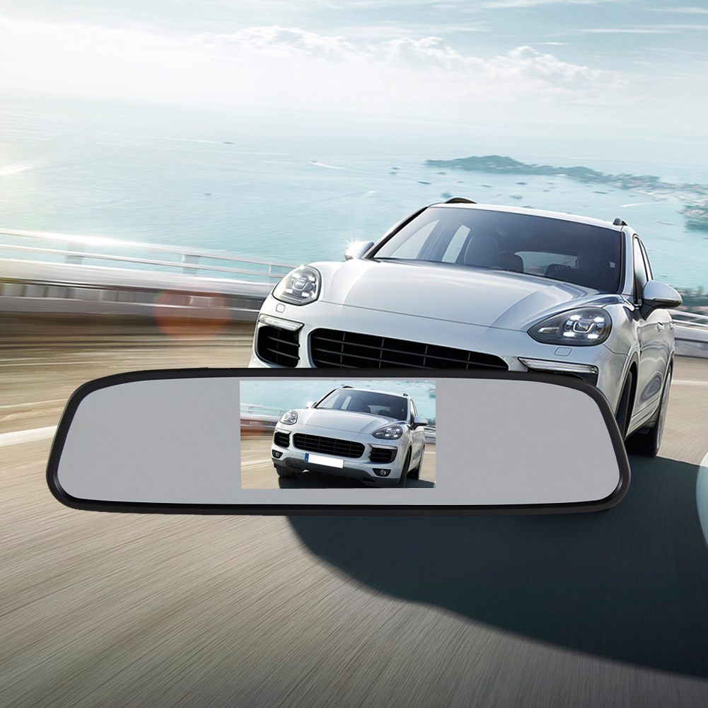 4.3 inch TFT Car LCD Monitor Rear View Mirror Camera DVR 120 Degree Waterproof Night Vision Camera dvr car-styling