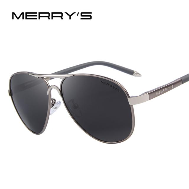 Merry's hombres clásicos de la marca de gafas de sol de hd aluminio polarizado de conducción gafas de sol de lujo shades uv400 s'8513