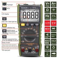 Borbede 168B Digital Multimeter 6000 count DC AC Voltage Current Capacitance Resistance Temperature NCV True RMS Mini Tester все цены