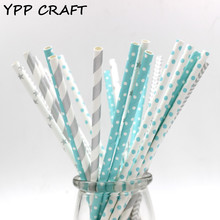 YPP CRAFT 125pcs Mixed striped mixed birthday wedding decorative party decoration event supplies drinking Paper Straws(China)