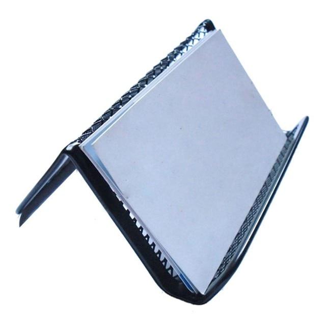metal card holder stylish black steel front desk business card holder office supplies men wizytownik tarjetero acero inoxidable - Desk Business Card Holder