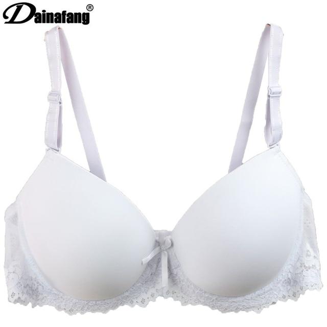 5f51c7b668e55 Sexy Comfortable Bra Fashion Solid White Brand Push Up Bra Fashon Bow Lace  High Quality Adjusted