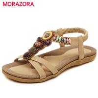 MORAZORA Large Size 35 44 China S Style Woman Shoes PU String Bead Platform Shoes Summer