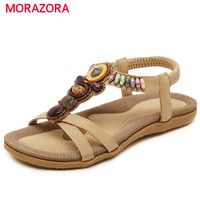 MORAZORA Large Size 35 44 China S Style Woman Shoes PU String Bead Platform Shoes Summer