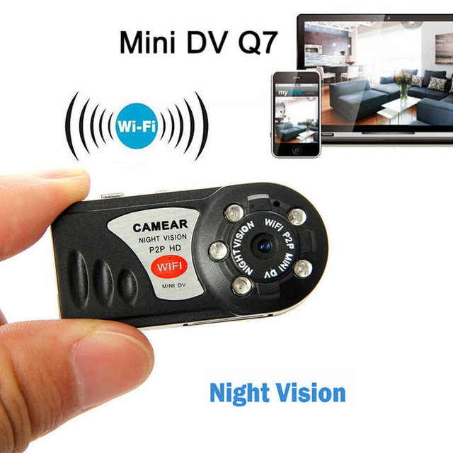 Q7 480P Mini Camera Wifi Wireless IP P2P Camera Cam Infrared Night Vision Mini DV Video Camcorder Recycle Recorder Camera