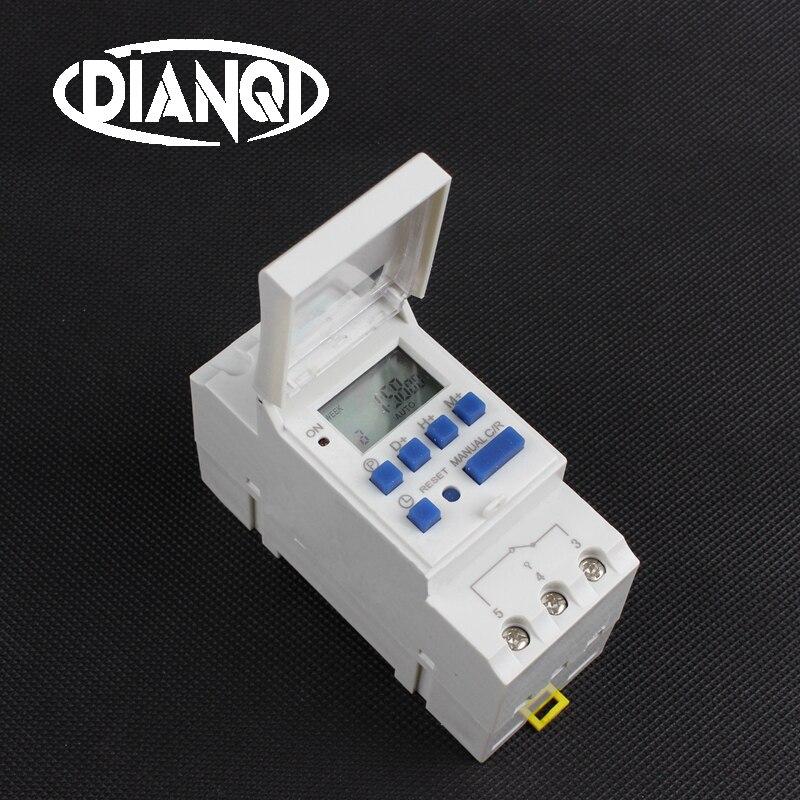 Tp8a16, interruptor de temporizador, montaje en Riel din, microordenador electrónico programable digital semanal, 220V, 110V, 36V, 12V24V, 48V, relé de timbre Ultra grande, pantalla de 3