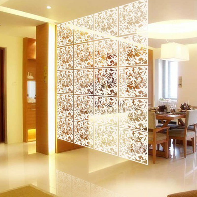 Us 2 52 30 Off Flower Hollow Hanging Screen Curtain Room Divider Parion Wall Home 3 Color Living Decorative In Screens