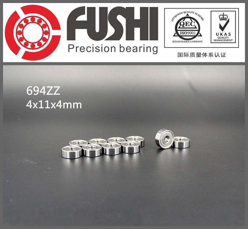 694ZZ Bearing ABEC-5 10PCS 4x11x4 mm Miniature 694 ZZ Ball Bearings 619/4 ZZ EMQ Z3 V3 Quality free shipping high quality bearing 10pcs 603zz abec 5 3x9x5mm miniature ball bearings 603 603z