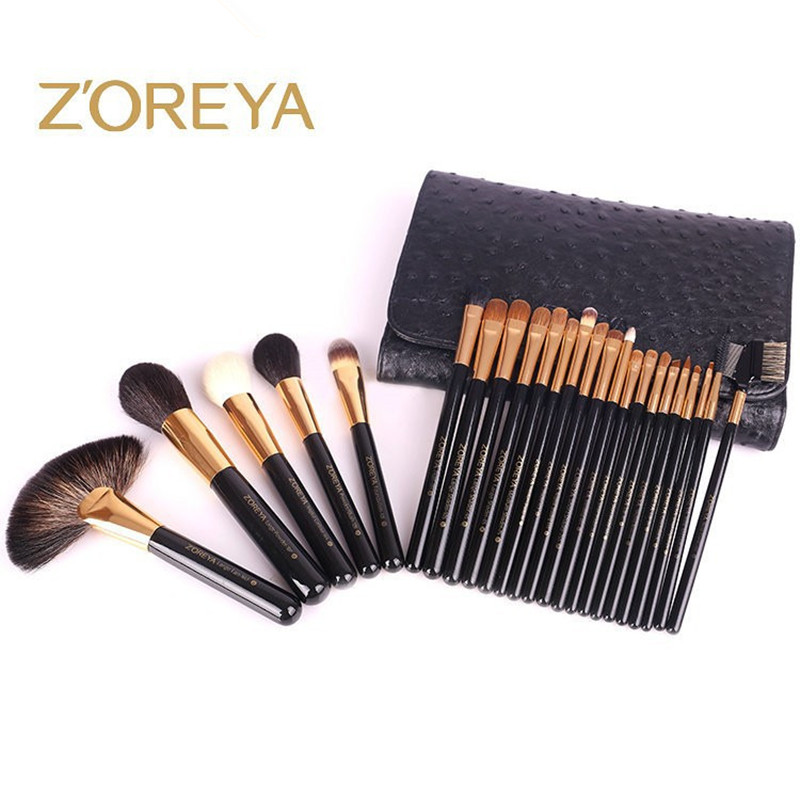 ZOREYA 24pcs Professional Makeup Brushes Set Foundation Blush Powder Make Up Tool For Beauty Woman Cosmetic Brush Kits Maquiagem professional 15pcs set facial makeup brushes set eyeshadow eye make up brush beauty blush powder foundation cosmetic brush tool