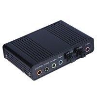 1Pcs Professional External USB 6 Channel 5 1 External Audio Music Sound Card Soundcard For Laptop