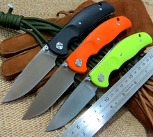 2016 new design F3 Bearing system Floding knife s D2 blade G10 handle outdoor survival hunting camping tool OEM
