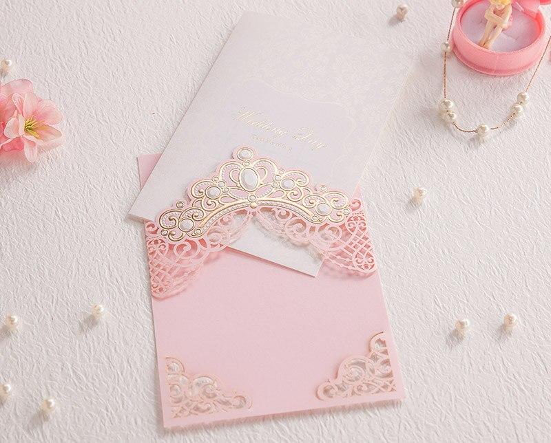 50 stücke Rosa Laser Cut Hochzeits einladungen Karten Mit Gold Geprägte Hohl Flora Design für Braut Dusche CW6072-in Karten & Einladungen aus Heim und Garten bei  Gruppe 1