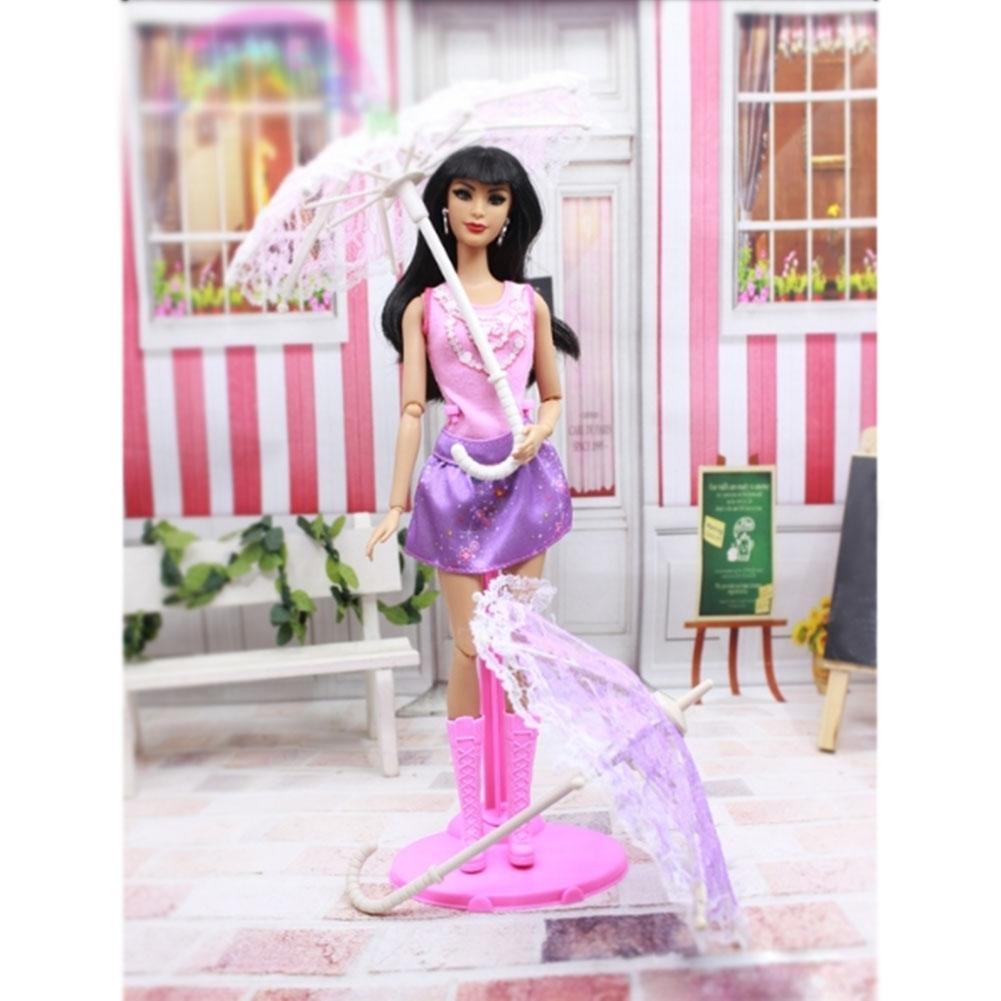 LeadingStar Barbie Doll Princess Lovely Gorgeous Plastic Floral Raining Sun Umbrella 13CM zk15 hatber optimum barbie the pearl princess 20627