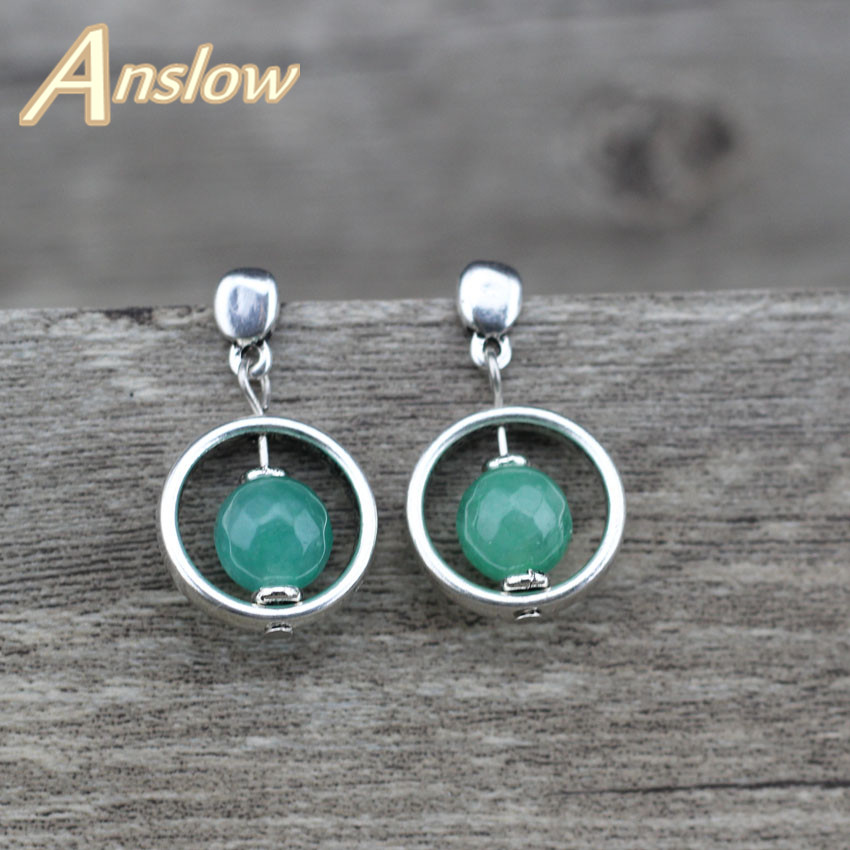 Anslow Fashion Jewelry New Bijoux Trendy Charm Round Earrings For Women Men Female Lady Christmas Black Friday Gift LOW0066AE