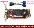 1 ШТ. для Hp 462477-001 461902-001 Бесплатная Доставка ATI HD2400 256 М 64bit PCI-E Графической Карты с DMS 59 до 2 * vga кабель