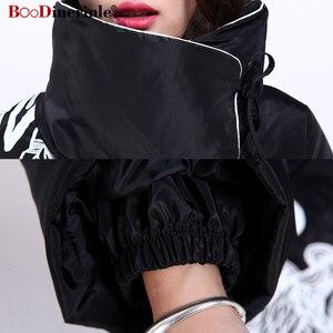 Image 5 - Женская длинная куртка на белом утином пуху, с принтом