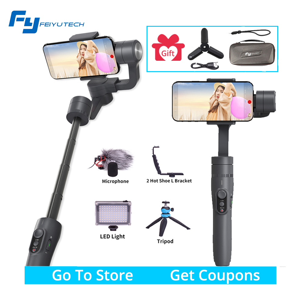 цена на Feiyu vimble 2 vimble2 gimbal Smartphone 3 Axis Handheld extendable Gimbal Stabilizer for iPhone Gopro sjcam PK Zhiyun Smooth 4