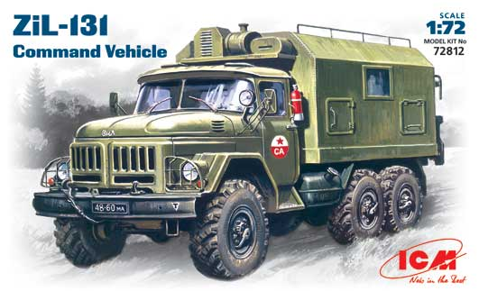 1:72 Soviet ZIL 131 Command Truck Model Military Model Plastic Assemble Toy
