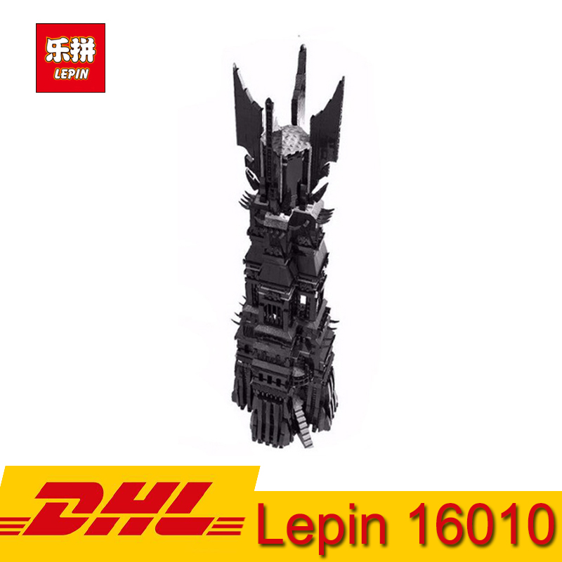 LEPIN 16010 2430Pcs Lord of the Rings The Tower of Orthanc Model Building Block Kits Compatible LegoINGly Children Toy Gift