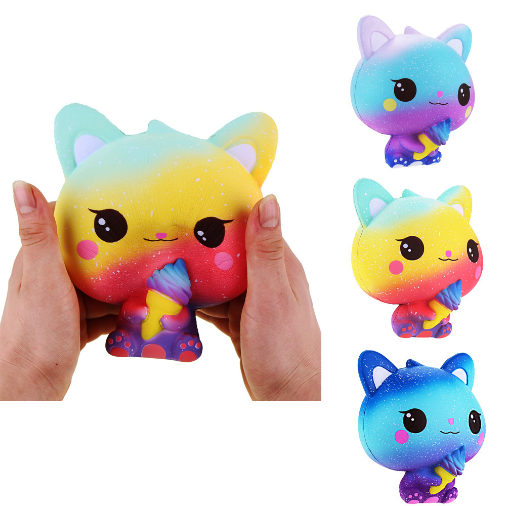 Squishy Galaxy Cat Scented Charm Squishy oyuncak Squishies Slow Rising Squeeze Stress Reliever Toy adult toys
