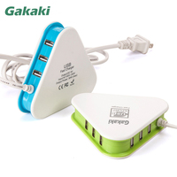 Gakaki 10 stks Micro Usb fast Charger 6 Poorten Universele mobiele telefoon Thuis AC Lader Adapter 5 V 2A Voor Iphone Samsung