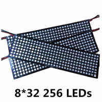 8*8 16*16 8*32 WS2812 WS2812B 5050 RGB Full Color Flexible Pixel Panel 64 256 LEDs 5V DC display panel Combination of the screen