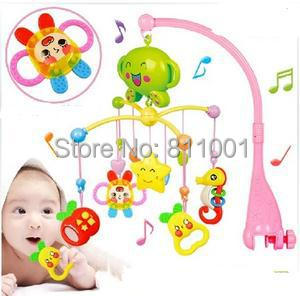 Rattle Baby Toys Rotating Musical  Baby Mobile Musical Bed Bell With 20 Music For  0-12 Months Newborn Teethers Baby Rattles