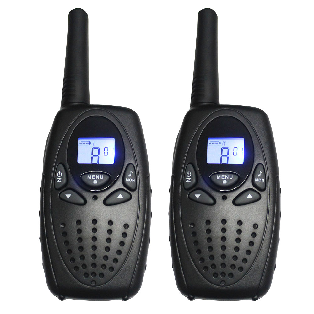 2 PC TS628 1 w Portabel Walkie Talkies radio interphone PMR dua Arah ham Radio Transceiver dual monitor w / earphone charger