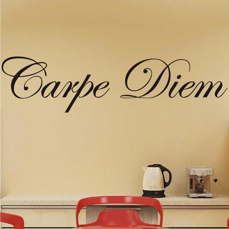Removeable Vinyl Wall Stickers Quotes Carpe Diem Decorative Art ...