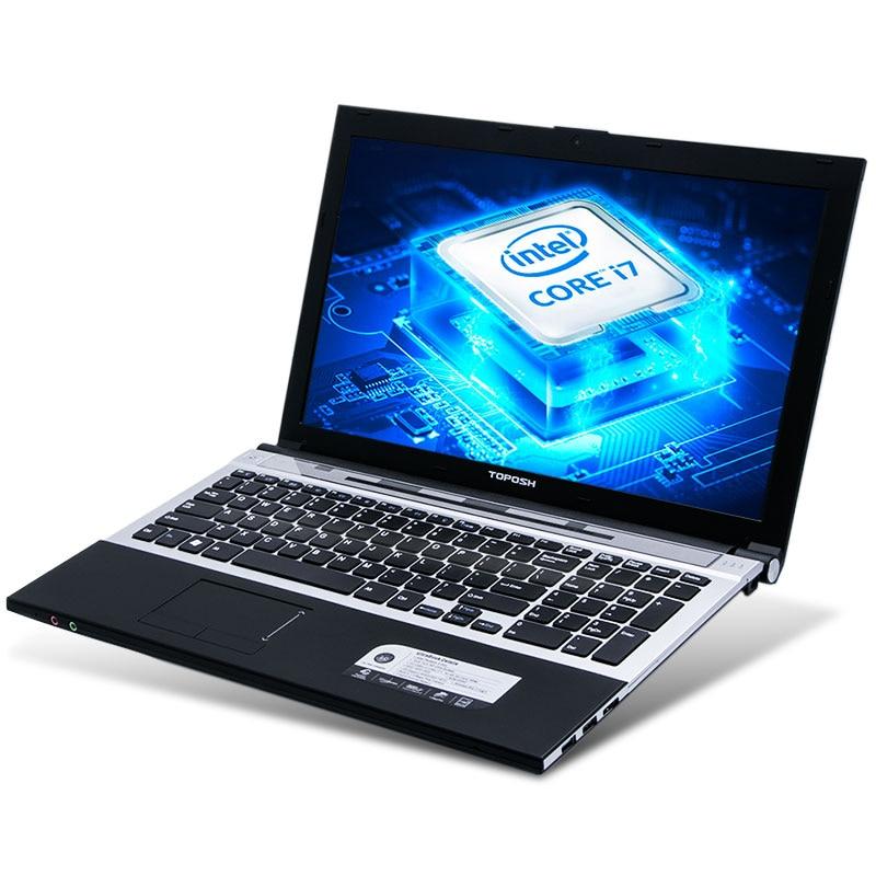 Ordinateur portable TOPOSH (P8-02) 15.6 pouces de haute qualité Intel Core i7 3537U 8G RAM 240 GB SSD DVD ROM ordinateur portable de jeu écran HD