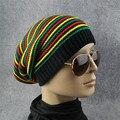 Bes skyman #3001 de Los Hombres de Las Mujeres Del Arco Iris de Rayas Con Capucha Cap Gorra de Invierno Cálido Sombrero de Punto