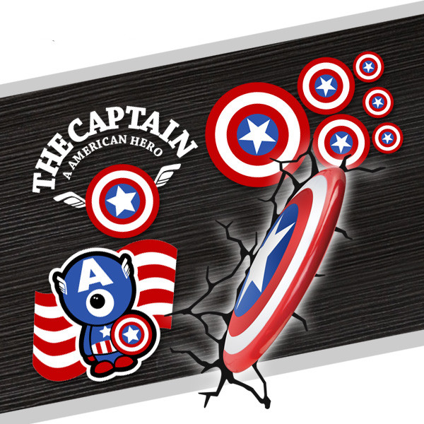 Personalized captain america shield car windshield glass stickers the captain america hero the avengers car exterior