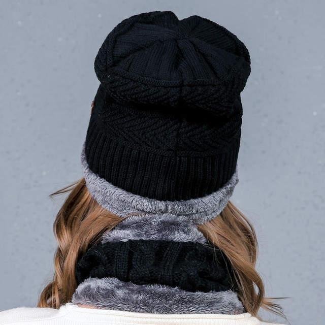 65d0406575f 2017 NEW style Fashion Warm Cap Skullies Beanies Winter Hat for Women Men  Wool Hat Unisex