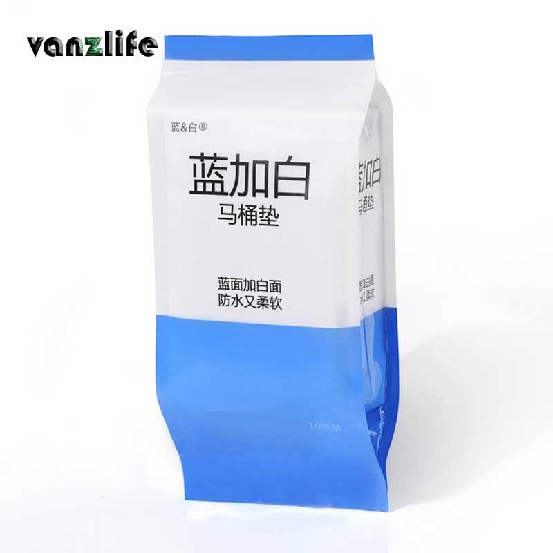 Vanzlife одно время Туалет pad путешествия водонепроницаемый антибактериальные туалетной бумаги 10 много