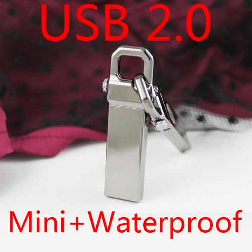 New Genuine 8GB 16GB 32GB USB Flash Drive 64GB Thumb Stick Pen Driver USB Memory Flash Card Metal Little Hook Mini Key Gift 2.0
