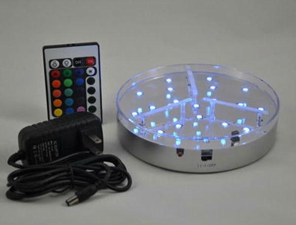 원격 제어 멀티 컬러 LED 센터 피스 파티 조명 ~ 6inch LED 라이트베이스 for Magic shisha hookah smoking